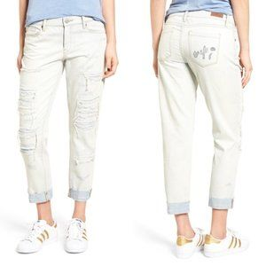 Blank NYC Crop Girlfriend Destructed Jeans